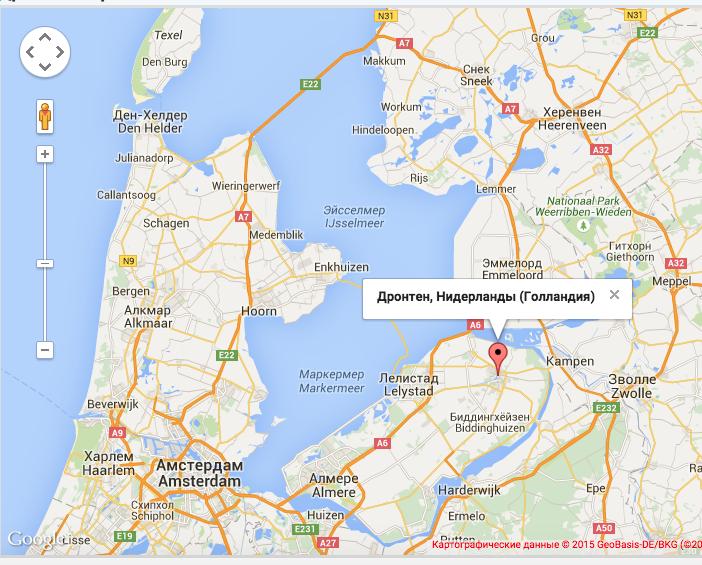 2015-07-16 19-09-15 Дронтен улицы, Дронтен карта Нидерланды (Голландия), фото - Karta-Online.com