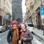 Мама и Катя морозят сопли в Праге